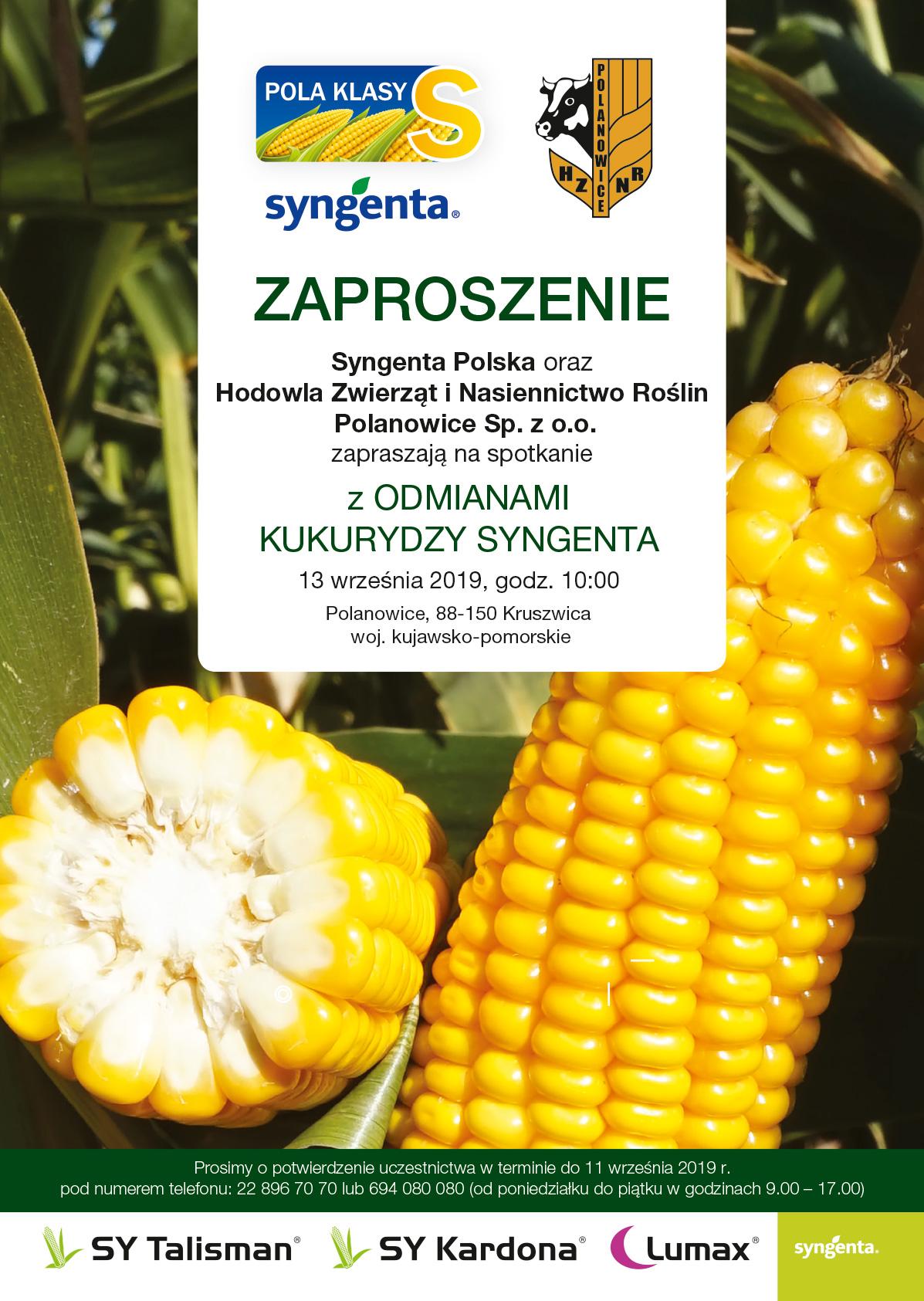 Spotkanie z odmianami kukurydzy Syngenta w Polanowicach