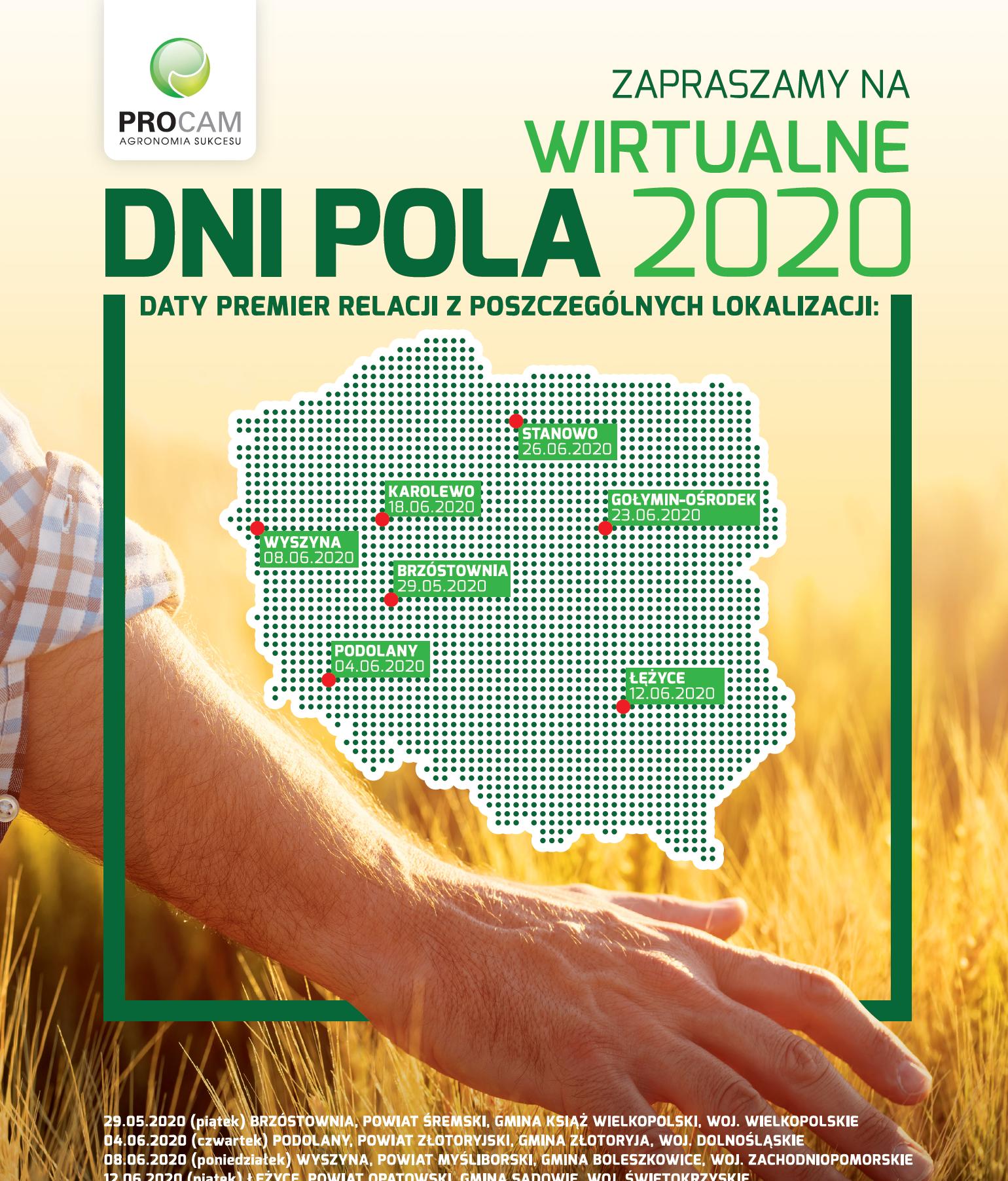Zapraszamy na Wirtualne Dni Pola PROCAM 2020